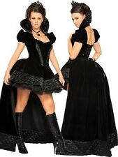 Ladies Sexy Night Queen Fancy Dress Party Women Costume Outfit Halloween 8 10 12