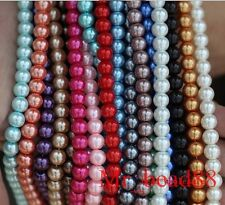 Wholesale Mixed Colors Loose Round Glass Pearl Spacer Beads 3/4/6/8/10mm Charms