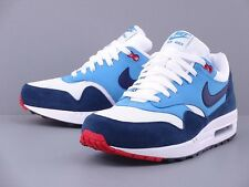 NIKE AIR MAX 1 ESSENTIAL WHITE MIDNIGHT NAVY UNIVERSITY BLUE 537383-119 RUNNING