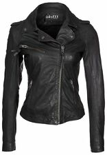 Women's Biker Motorcycle Genuine Lambskin Leather Jacket # 219