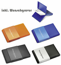 Trendy Business Card Holders Business Card Box With Engraving Engraved Aluminum