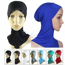 New Under Scarf Hat Cap Bone Bonnet Hijab Islamic Headwear Band Neck Chest Cover