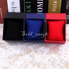 Gift Present Boxes Case For Bangle Jewelry Ring Earrings Wrist Watch Box ES