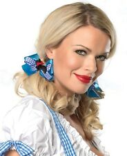 Brand New Dorothy Satin And Gingham Hair Bows - A1027