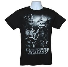 GUARDIANS OF THE GALAXY T-SHIRT GROOT ROCKET RACCOON MARVEL COMICS LICENSED DRAX