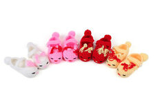 Handmade Newborn Baby Girls Crochet Knitted Rabbit Booties Crib Shoes Prewalker