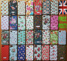 NEW CATH KIDSTON FOR iPHONE 4 & 5 APPLE CASES COVERS HARD ROSE BIRD FLOWER POLKA