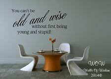 Children Teenager Adult Bedroom Wall Sticker Wall Art Old & Wise Young & Stupid