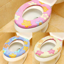 Flowers Stuffed Toilet Seat  Plush Toilet Seat Cover U-Shaped Toilet Mat New