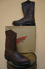 MENS RED WING 11 INCH PULL ON PECOS SOFT TOE WORK BOOT! 1132 ELECTRICAL HAZARD!