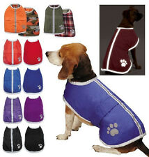 NOREASTER BLANKET COAT Reversible Dog Jacket Waterproof Reflective Fleece