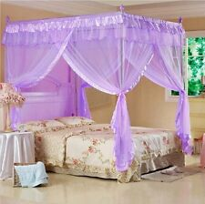 4 Poster Bed Canopy Mosquito Net Fit Twin-XL Full Queen Cal King Multi Color