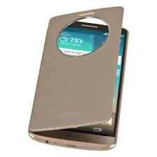 Slim Quick Circle Clear Window Flip Leather Case Cover For LG G3 D850 D855 F400