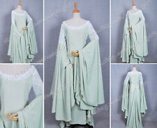 The Lord of the Rings Cosplay Arwen Green Gorgeous Lace Dress Costume Ball Gown