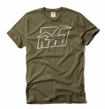 Hollister by Abercrombie Men Venice Beach Seagull Olive Crew-Neck Tee - $0 Ship