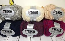 Schachenmayr SMC Brioletto Yarn Ribbon & Wool Combo 50g Skein Select Color