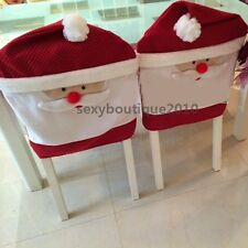Newly Home Garden Santa Claus Face Christmas Decorations Kitchen Chair Covers