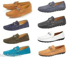 NEW MENS FAUX SUEDE LEATHER CASUAL LOAFERS MOCCASINS SLIP ON DRIVING SHOES 6-11