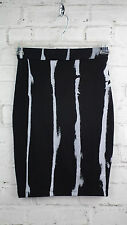 BNWT Religion Ideal Jersey Printed Pencil Skirt in Jet Black