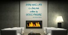JC Design 'Every mans life is a fairy tale...' H.C.Andersen - Wall Quote Vinyl
