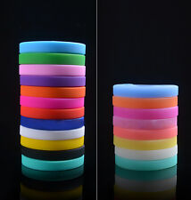 Worth while Hot Silicone Elasticity Wristband Wrist Bands Bracelet Bangle EFCA