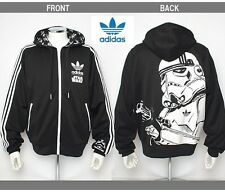 %ADIDAS STAR WARS STORMTROOPER BLACK HOODED HOODIE JACKET M L XL