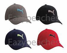 PUMA Icon Baseball Cap Unstructured Relaxed Fit Golf Tour Soccer Hat Cat Logo