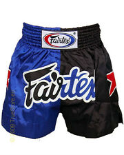 NEW! Fairtex Muay Thai Kickboxing Shorts - Blue & Black or Red & Black - UFC MMA