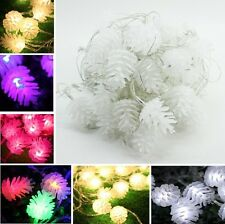 10M Waterproof Pine Cones LED String Lights Party Christmas Outdoor Decor US422