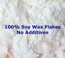 100% Soy Wax Flakes Candle Making Supplies Cosmetic Grade No Additives Tarts 415