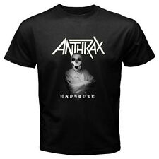 New ANTHRAX Mad House Metal Rock Band Men's Black T-Shirt Size S M L XL 2XL 3XL