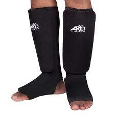 ARD CHAMPS™ Shin Instep Protectors, Guards Pads Boxing, MMA Muay Thai Black