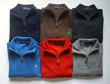 NEW Men Polo Ralph Lauren Half Zip Sweater Size S M L XL XXL Classic Fit