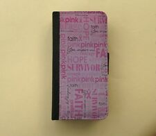 Breast cancer awareness pink Samsung S4 /S3 wallet phone case, iPhone6 flip case
