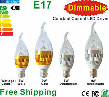 10pcs x E17 LED Lamp Bulb 6w/9w Dimmable for Candelabra or Ceiling Light Use
