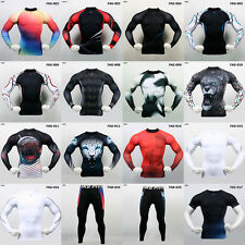 2014 NEW Mens Surfing Swim Rash Guard Vest Shirts Shorts Pants Cycling Clothing