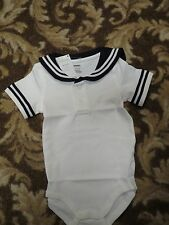 NWT SAILOR SUIT ONESIE NAUTICAL BOYS GYMBOREE OUTFIT TWINS 3 - 6 MONTHS EASTER