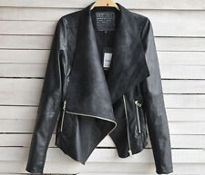 High-end custom leather jacket women short paragraph Slim woman explosion models