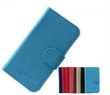 New PU Slim Wallet Card Leather Skin Cover Case for BLU Dash 4.5 D310A