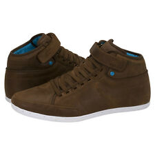 Boxfresh Swich Half Cab Chocolate New Leather Mens Shoes Boots Cheap