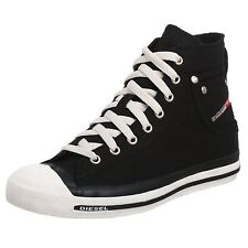 Diesel Exposure Hi Black White Womens Canvas New Trainers Shoes Boots