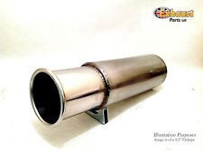 Universal Jap Style Exhaust Back Box Stainless Silencer with Rolled Tailpipe Tip