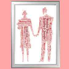 WORD ART PERSONALISED GIFT FOR HER OR HIM ROMANCE LOVE ANNIVERSARY BIRTHDAY ETC