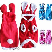 Cute Pet Dog Cat Bunny Clothes Warm Autumn Winter Puppy Costumes Hoodie Apparel
