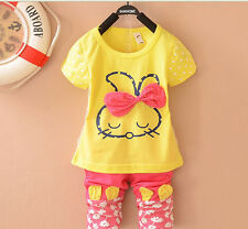 New Cute Toddler Baby Girls Rabbit Clothing Set Fashion Suit Free Shipping