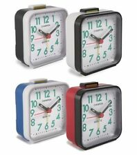 Champion Luminous Number White Dial Square Gloss Finish Travel Alarm Clock New