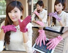 New Hot Bow Women Winter Warm Easy Click Touch Screen SmartPhone Magic Gloves