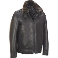 Wilsons Leather Bomber Leather Jacket w/ Detachable Faux-Fur Collar