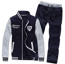 Men Sports Sweat Suit Pants Tracksuit Hoodie Knitted Cotton Outdoor Sportwear