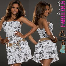 Womens Sexy Mini Dress Size 6 8 10 Strapless Style Hot Summer Party Evening Tops